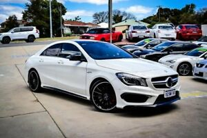 2014 Mercedes-Benz CLA-Class C117 805+055MY CLA45 AMG SPEEDSHIFT DCT 4MATIC White 7 Speed Myaree Melville Area Preview