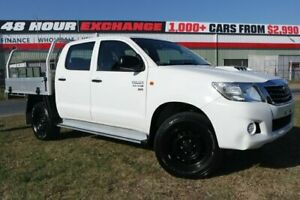 2014 Toyota Hilux KUN26R MY14 SR Double Cab White 5 Speed Automatic Utility Eagle Farm Brisbane North East Preview