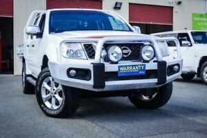 2012 Nissan Navara D40 S5 MY12 ST-X Blackline White Semi Auto Utility Coopers Plains Brisbane South West Preview