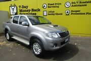 2014 Toyota Hilux KUN26R MY14 SR5 Double Cab Silver 5 Speed Automatic Utility Invermay Launceston Area Preview