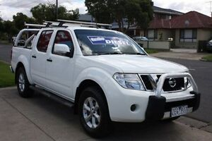 2012 Nissan Navara D40 S6 MY12 ST White 5 Speed Sports Automatic Utility Altona North Hobsons Bay Area Preview