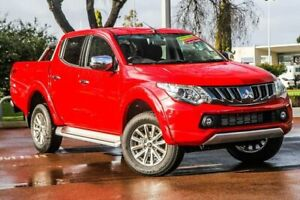 2018 Mitsubishi Triton MQ MY18 GLS Double Cab Red 5 Speed Sports Automatic Utility Cannington Canning Area Preview
