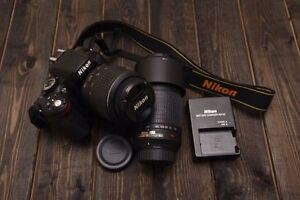 Nikon D5100 Lightly Used - with 2 Lenses (18-55mm, 55-200mm(VR))