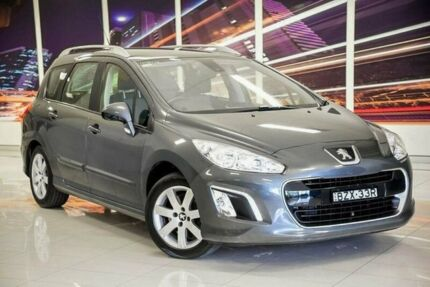 2011 Peugeot 308 T7 MY12 Active Touring Grey 6 Speed Sports Automatic Wagon