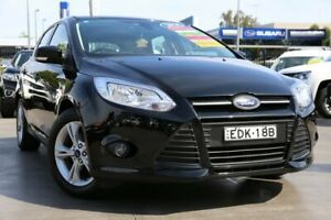 2014 Ford Focus LW MkII MY14 Trend PwrShift Black 6 Speed Sports Automatic Dual Clutch Hatchback