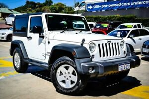 2017 Jeep Wrangler JK MY17 Sport White 6 Speed Manual Softtop Myaree Melville Area Preview
