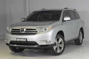 2013 Toyota Kluger GSU40R MY12 KX-S 2WD Silver 5 Speed Sports Automatic Wagon Wadalba Wyong Area Preview