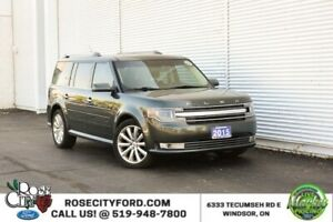 2015 Ford Flex Limited / BACK UP CAM / HEATED LEATHER SEATS / RE