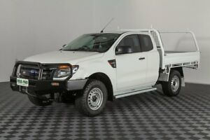 2014 Ford Ranger PX XL Super Cab 4x2 Hi-Rider Cool White 6 Speed Sports Automatic Cab Chassis Acacia Ridge Brisbane South West Preview