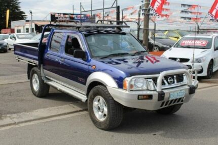 2003 Nissan Navara D22 ST-R (4x4) Blue 5 Speed Manual Dual Cab Pick-up Brooklyn Brimbank Area Preview