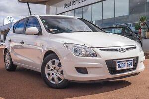 2010 Hyundai i30 FD MY10 SX White 5 Speed Manual Hatchback Wangara Wanneroo Area Preview