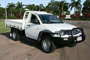 2011 Mitsubishi Triton MN MY11 GLX White 5 Speed Manual Cab Chassis Townsville Townsville City Preview