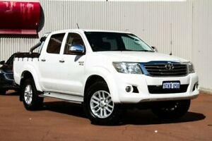 2013 Toyota Hilux GGN25R MY12 SR5 Double Cab White 5 Speed Automatic Utility Fremantle Fremantle Area Preview