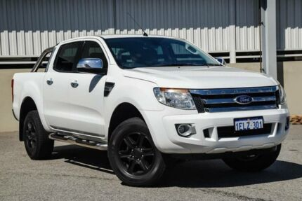 2013 Ford Ranger PX XLT 3.2 (4x4) White 6 Speed Automatic Dual Cab Utility Cannington Canning Area Preview