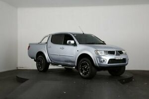 2014 Mitsubishi Triton MN MY15 GLX-R Warrior (4x4) Silver 5 Speed Automatic 4x4 Double Cab Utility