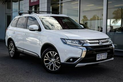 2016 Mitsubishi Outlander ZK MY17 LS 4WD Safety Pack White 6 Speed Sports Automatic Wagon Myaree Melville Area Preview