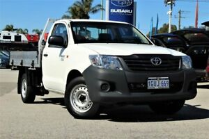 2014 Toyota Hilux TGN16R MY14 Workmate 4x2 White 5 Speed Manual Cab Chassis Greenfields Mandurah Area Preview