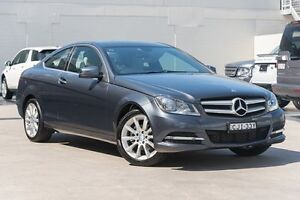 2012 Mercedes-Benz C180 C204 BlueEFFICIENCY 7G-Tronic + Grey 7 Speed Sports Automatic Coupe Brookvale Manly Area Preview