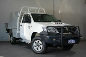 2012 Toyota Hilux KUN26R MY12 SR White 5 Speed Manual Cab Chassis Bayswater Bayswater Area Preview