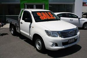 2013 Toyota Hilux TGN16R MY12 Workmate White 4 Speed Automatic Cab Chassis Mount Gravatt Brisbane South East Preview