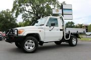 2014 Toyota Landcruiser VDJ79R GXL White 5 Speed Manual Cab Chassis Earlville Cairns City Preview