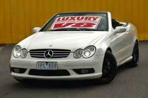 2004 Mercedes-Benz CLK-Class C209 MY05 CLK55 AMG White 5 Speed Automatic Cabriolet Cheltenham Kingston Area Preview