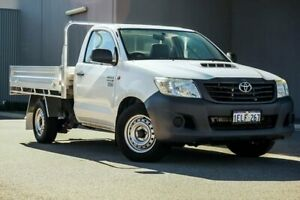 2013 Toyota Hilux KUN16R MY12 Workmate 4x2 White 5 Speed Manual Cab Chassis Osborne Park Stirling Area Preview