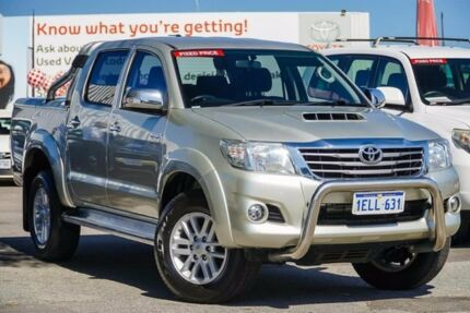 2014 Toyota Hilux KUN26R MY14 SR5 Double Cab Sterling Silver 5 Speed Automatic Utility