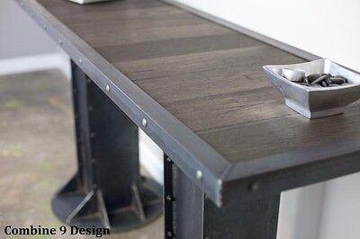 Console table, Mid Century Modern, Urban, Sofa Table, Industrial, Oak, Rustic Modern Oak Sofa Table