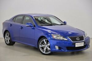 2010 Lexus IS250 GSE20R MY11 F Sport Blue 6 Speed Sports Automatic Sedan Mansfield Brisbane South East Preview