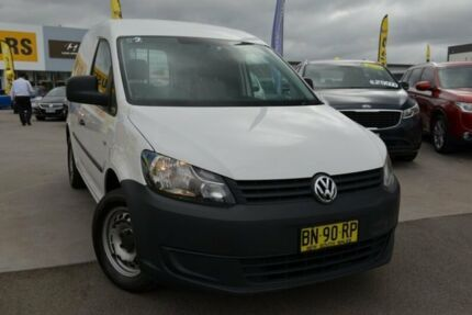 2012 Volkswagen Caddy 2KN MY12 TDI250 SWB DSG White 7 Speed Sports Automatic Dual Clutch Van