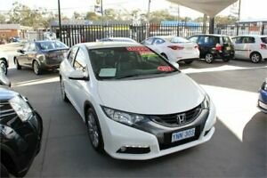 2012 Honda Civic FK VTi-L White 5 Speed Automatic Hatchback Mitchell Gungahlin Area Preview