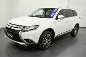2016 Mitsubishi Outlander ZK MY16 LS (4x2) White Continuous Variable Wagon