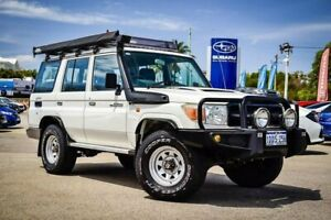 2009 Toyota Landcruiser VDJ76R Workmate White 5 Speed Manual Wagon Greenfields Mandurah Area Preview