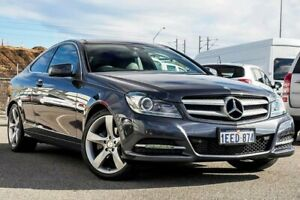 2012 Mercedes-Benz C250 C204 MY13 BlueEFFICIENCY 7G-Tronic + Grey 7 Speed Sports Automatic Coupe Osborne Park Stirling Area Preview