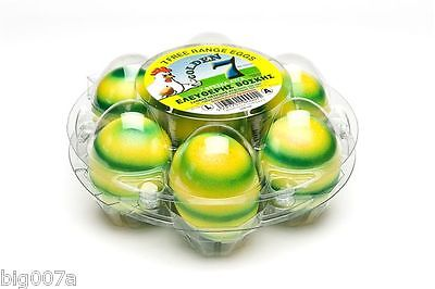 75 Clear Plastic Round Starpack Egg Cartons Holds 7 Eggs. Great For Easter Eggs