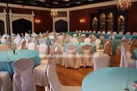 Chair covers for sale.
