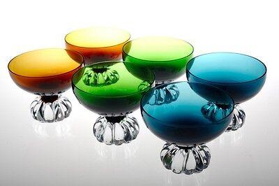 6 Sektschalen Aseda Sweden Vintage Glas 60er 70er Jahre Dessertschalen Gläser