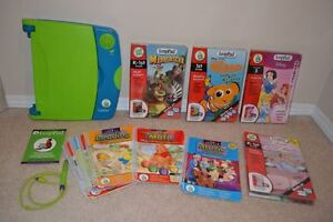 """Kids Toy: """"Leap Frog"""" Leap Pad Learning System with 10 Books"""