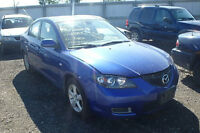 2007 MAZDA3 GS AUTO ** COMPLETE PART OUT ** BLUE