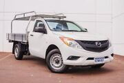 2015 Mazda BT-50 UP0YD1 XT 4x2 White 6 Speed Manual Cab Chassis Maddington Gosnells Area Preview