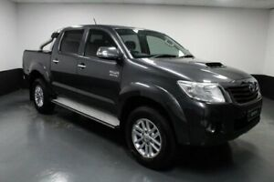 2014 Toyota Hilux KUN26R MY14 SR5 Double Cab Grey 5 Speed Automatic Utility Hamilton East Newcastle Area Preview