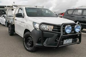 2017 Toyota Hilux TGN121R Workmate 4x2 White 5 Speed Manual Cab Chassis Dandenong Greater Dandenong Preview