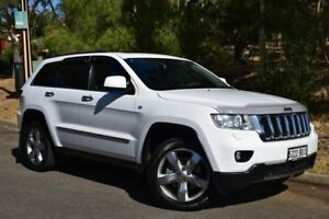 2012 Jeep Grand Cherokee WK MY2012 Overland White 5 Speed Sports Automatic Wagon St Marys Mitcham Area Preview