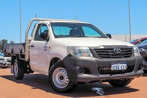 2012 Toyota Hilux TGN16R MY12 Workmate White 4 Speed Automatic Cab Chassis Westminster Stirling Area Preview