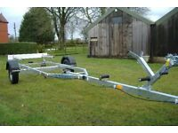 New boat trailer