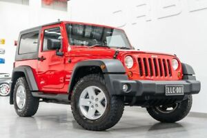 2009 Jeep Wrangler JK MY09 Sport (4x4) Flame Red 6 Speed Manual Softtop Port Melbourne Port Phillip Preview