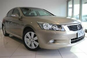 2010 Honda Accord 8th Gen MY10 V6 Luxury Beige 5 Speed Sports Automatic Sedan Strathmore Heights Moonee Valley Preview