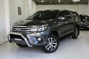 2016 Toyota Hilux GUN126R SR5 Double Cab Grey 6 Speed Sports Automatic Utility Castle Hill The Hills District Preview