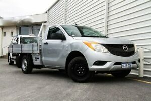 2014 Mazda BT-50 UP0YD1 XT 4x2 Silver 6 Speed Manual Cab Chassis Osborne Park Stirling Area Preview